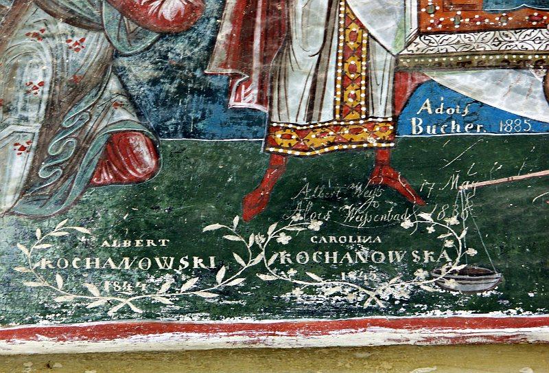 Moldoviţa Monastery - 19th century graffiti