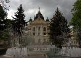 Košice - State Theatre and musical fountain