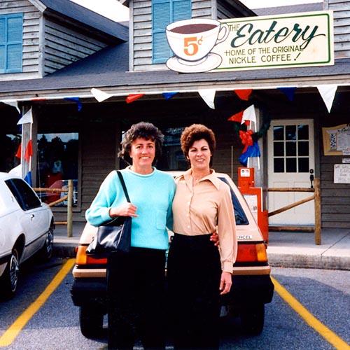 1991 or 1992 - Liz Jones Kettleman and Valerie Ciaccio Verno at Valeries restaurant