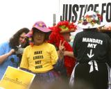 Listen to the Raging Grannies MP3 (link is below this photo)