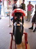 rear view of the Ducati MotoGP bike