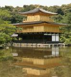 A classic view of Kinkakuji Temple (Golden Pavilion) in Kyoto