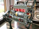 Cutaway Auburn engine