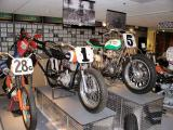 Historical racing motorcycle display