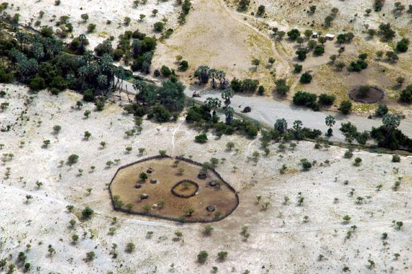 Village along the Kuene River, Kaokoland, Namibia