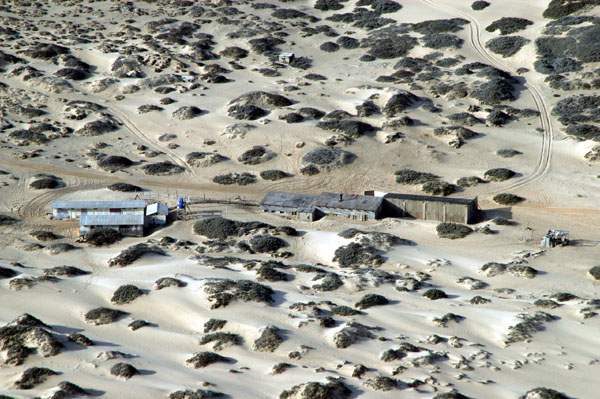 Remote outpost in the Sperrgebiet around 55nm north of Lüderitz, perhaps Saddle Hill