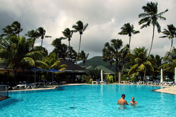 Pool at the Plantation Club, Mahé Island