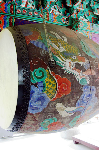 Large drum, Chogyesa Temple bell tower