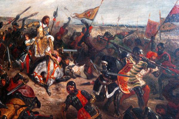1356 Battle of Poitiers, 1830, Eugène Delacroix (1798-1863)