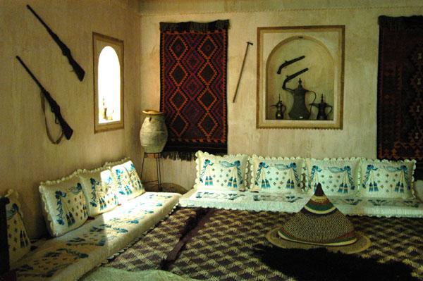 Recreation of an Arabian sitting room