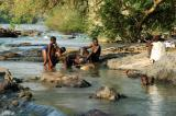 Men bathing at Epupa Falls