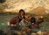 Himba boys playing at Epupa Falls
