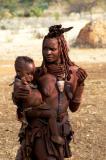 Himba woman and baby