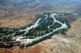 Kunene River at Epupa Falls, separating Angola and Namibia