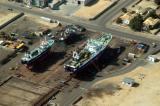 Ships being overhauled in Walvis Bay