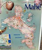 Map of Mahé Island, Seychelles