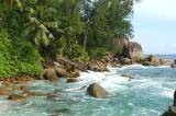 From the 2-WD parking lot at Anse Soleil go south past the ruins