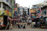 Side street penetrating Pettah District, Colombo