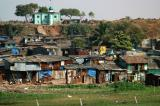 Shanty town next to Bombay Airport