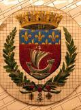 Paris coat-of-arms in the Metro Hôtel de Ville