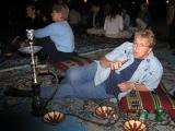 Mom with a sheesha (Arabian water pipe)