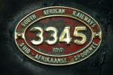 South African Railways locomotive 3345