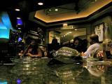 polished marble upscale hotel bar