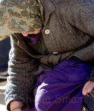 Elderly lady at Quay