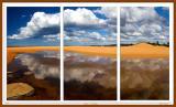 Dunes at Narrabeen - triptyk version