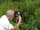 David McAdoo getting a closeup photo...