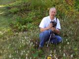 Roadside Spiranthes cernua. Photographer placed for physical perspective.