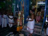 HH Sri Kaliyan swamy being honoured with theertha prasadam