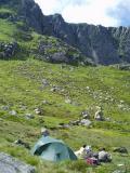 Lochnagar camp, before climbing Eagle Ridge