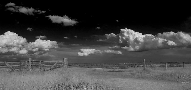 Cumulus Clouds Over Farmland