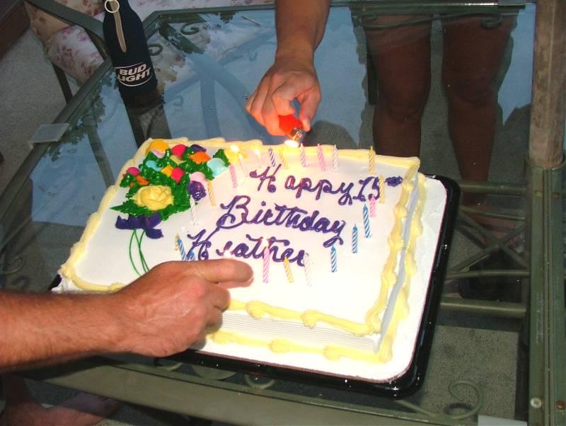 Heathers birthday