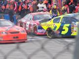 talladega fall 2005  Pit stop action