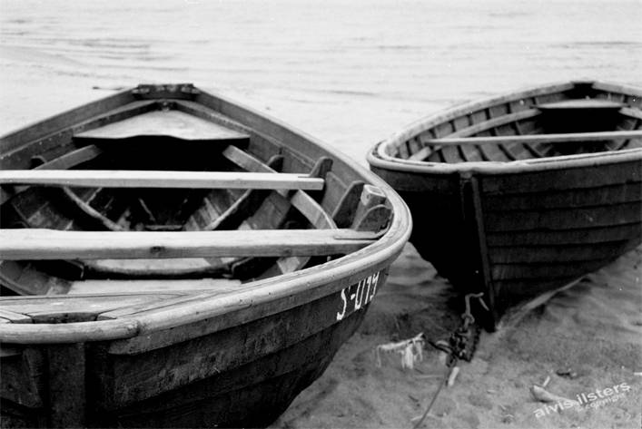 Boats by the Baltic Sea