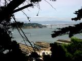 The Bay Bridge as it enters Treasure Island
