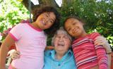 Sarah and Rachel with Grandma Midge