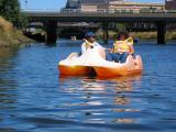 Rachel and Sarah boating in Seaside