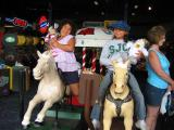 Sarah and Rachel on horsies