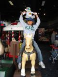 Rachel on horsie