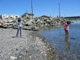 Rachel and Sarah at Kingston ferry terminal