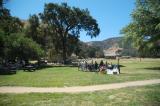 Long shot of Fort Tejon battlefield