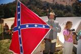 Proudly displaying rebel flag