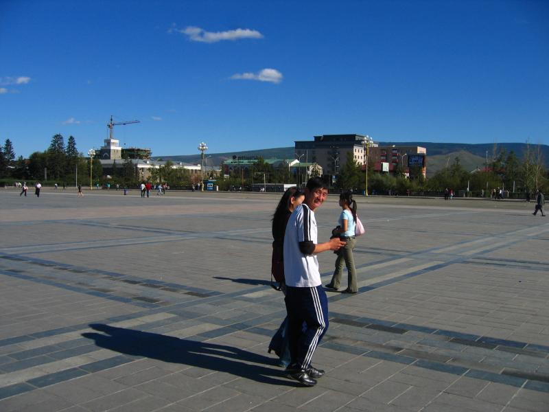 Locals on the square