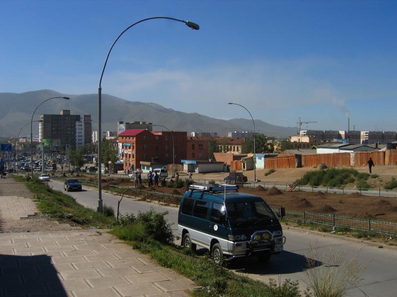 Hazy, dusty Ulaanbaatar
