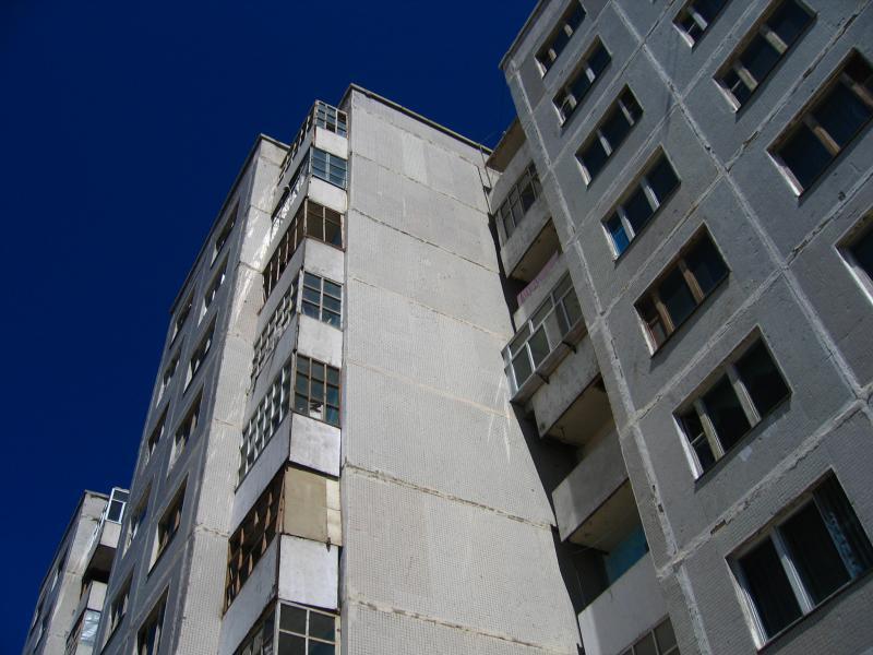 Suburban tower blocks