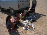 Kids selling souvenirs
