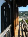 Along the donjon balcony